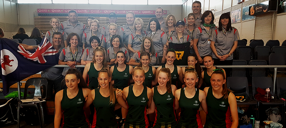 Tassie netball girls improving with massive support crew
